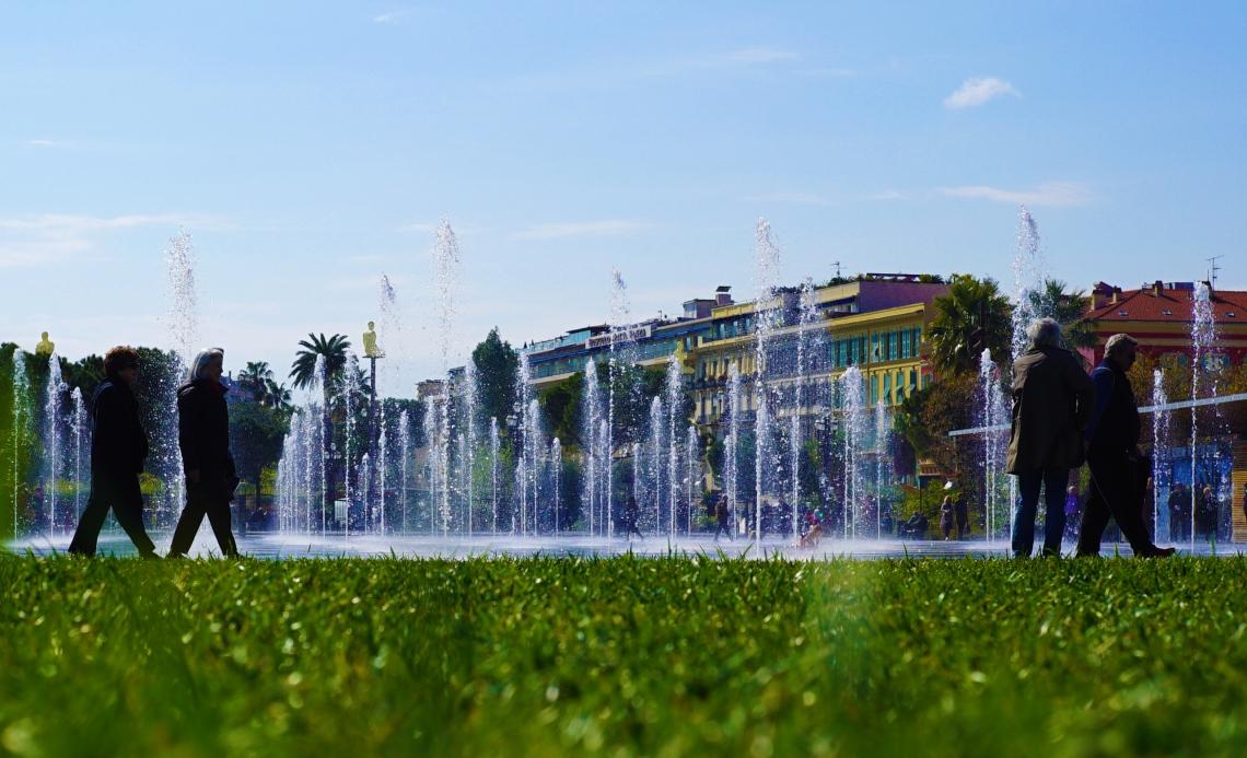 Vibrant fountain Nice