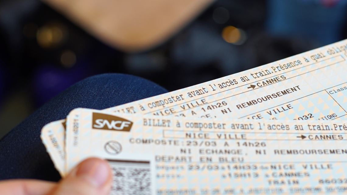 Cannes Nice train tickets